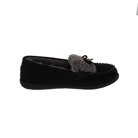 Foamtreads Slipper Black / 5 US / M (Medium) Foamtreads Womens Janis Moccasin Slippers - Black