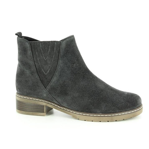 Gabor Boots Dark Grey (Micro) / 3 / M Gabor Womens Dreamvelour Ankle Boots - Dark Grey