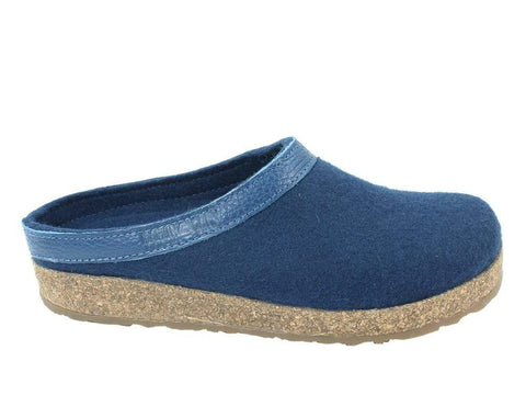 Haflinger Slipper Captain's Blue / 35 / M Haflinger Unisex Grizzly Slippers GZL79 - Captain's Blue