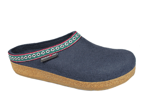 Haflinger Slipper GZ10 Navy / 35 / M Haflinger Unisex Grizzly Classic Slippers GZ10 - Navy