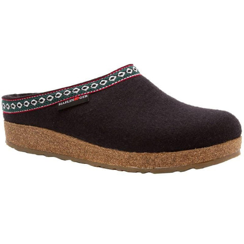 Haflinger Slipper GZ15 Black / 35 / M Haflinger Unisex Grizzly Slippers GZ15 - Black