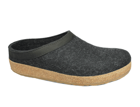 Haflinger Slipper GZL44 Charcoal / 35 / M Haflinger Unisex Grizzly Slippers GZL44 - Charcoal
