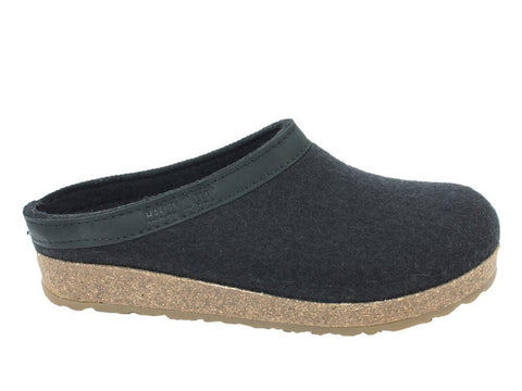 Haflinger Slipper GZL45 Black / 35 / M Haflinger Unisex Grizzly Slipper GZL45 - Black