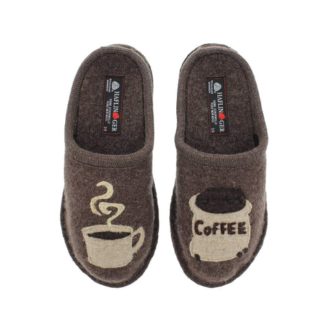 Haflinger Slipper Haflinger Womens Coffee Slippers - Earth