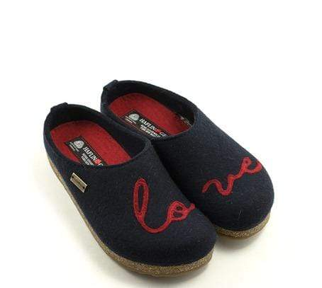 Haflinger Slipper Haflinger Womens Grizzly Slipper - Lovely Navy