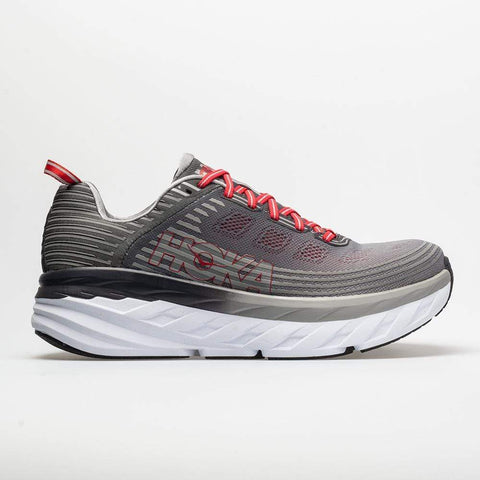 Hoka One One Shoe Alloy/Steel Gray / 7 / 2E Hoka One One Mens Bondi 6 Running Shoes (Wide) - Alloy/ Steel Gray