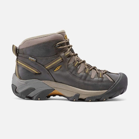 Keen Boots Black Olive/Yellow / 7 / M Keen Mens Targhee II Mid Waterproof Hiking Boots - Black Olive/ Yellow
