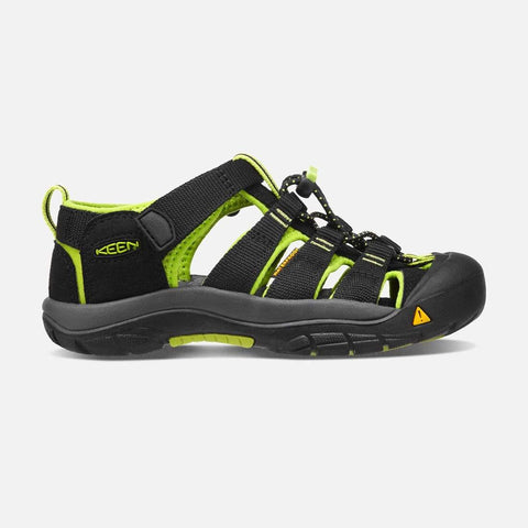 Keen Kids Black/Lime Green / 1 / M Keen Kids Newport H2 Sandals - Black/ Lime Green