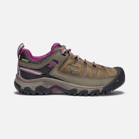 Keen Shoe Weiss/Boysenberry / 5 / M Keen Womens Targhee III Waterproof Hiking Shoes - Weiss/ Boysenberry