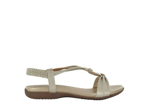Lady Comfort Sandals Champagne / 36 / Regular Lady Comfort Womens Kailey-01 Sandals - Champagne
