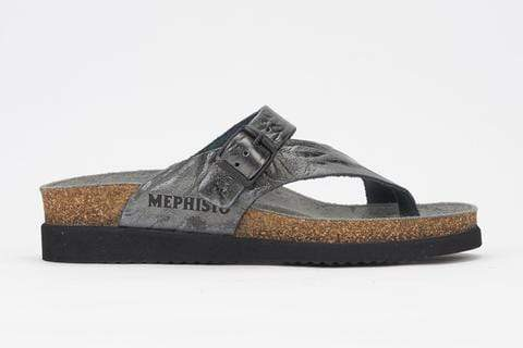 Mephisto Sandals Grey / EU 35 / US 5 / M Mephisto Womens Helen Plus Sandals (Wide) - Grey Etna 7103