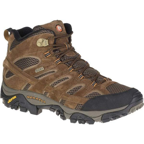 Merrell Boots DARK EARTH / 7 / M Merrell Mens Pulsate 2 MID Leather WP Hiking Boots - Dark Earth