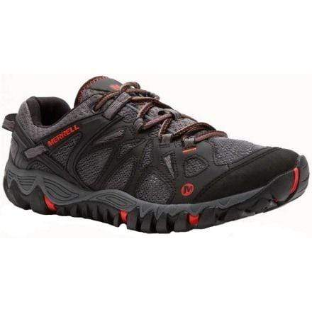 Merrell Shoe BLACK / RED / 5 / M Merrell Mens All Out Blaze Aero Sport Hiking Shoes - Black / Red