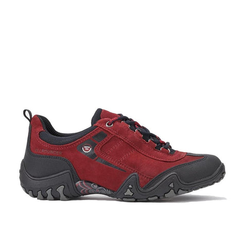 Mobils Ergonomic Shoe Black/Mid-Red / 5 US / M AllRounder Womens Fina-Tex Walking Shoes - Black/ Mid-Red
