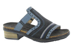 NAOT Sandals Oily Midnight Polar / 35 / M Naot Womens Nifty Slide Sandals - Oily Midnight/ Polar