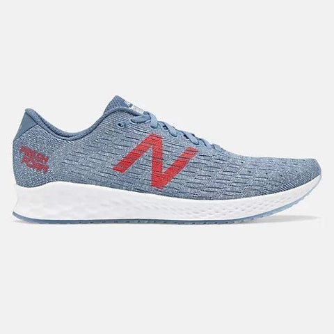 New Balance Shoe Chambray with Lyons Blue & Energy Red / 7 US / D NB Mens Fresh Foam Zante Pursuit Runners  - Chambray/ Lyons Blue/ Energy Red