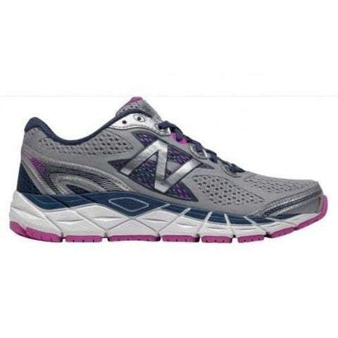 New Balance Shoe Grey with White and Purple / 7 / 2A NB Womens 840v3 Running Shoes - Grey/ Blue/ Pink