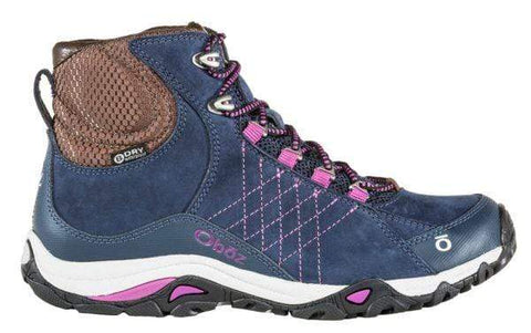 Oboz Footwear Boots Huckleberry / 6 / M Oboz Womens Sapphire Mid B-Dry Waterproof Hiking Boots - Huckleberry