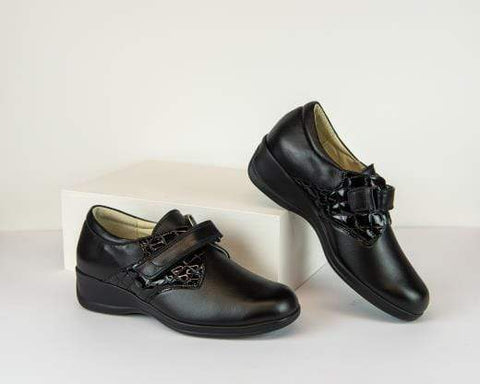 Portofino Shoe Black / 35 / M Portofino Womens Nappa Leather Cocco Grand Oxfords - Black