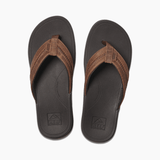 Reef Sandals Reef Mens Leather Ortho-Bounce Coast Sandals - Brown