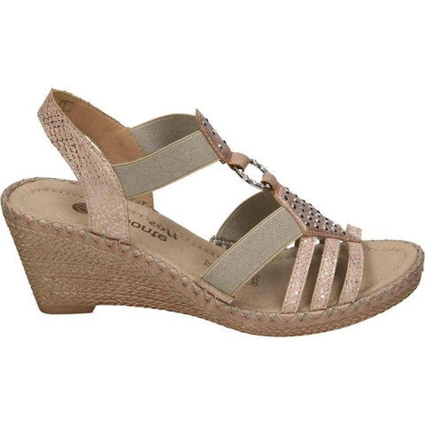 Remonte Sandals ROSA / 35 / M Remonte Womens Strappy Wedges - Rosa