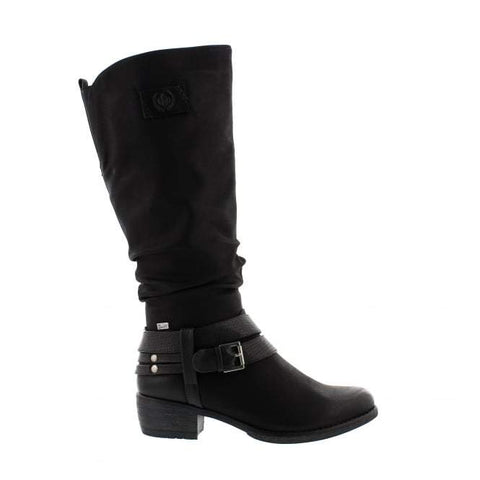 Rieker Boots Black / 35EU / M Rieker Womens Tall Heeled Boots - Black