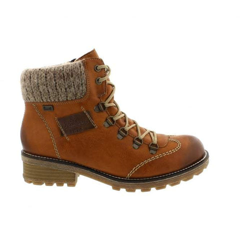 Rieker Boots Brown Combination / 35EU / M Rieker Womens Lace Boots - Brown Combination
