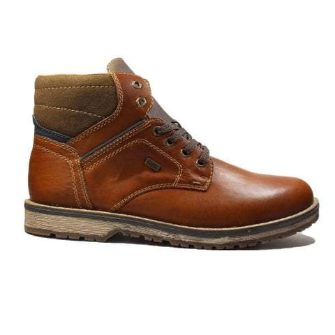 Rieker Boots Brown Combination / 43EU / M Rieker Mens Lace Up Boots - Brown Combination