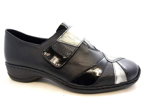 Rieker Shoe Rieker Womens Shoes - Black Combination