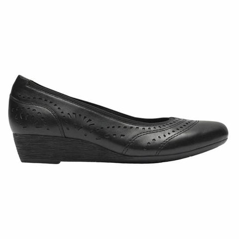 Rockport Shoe Black / 5 US / W (Wide) Rockport Cobb Hill Womens Judson Perforated Pumps - Black