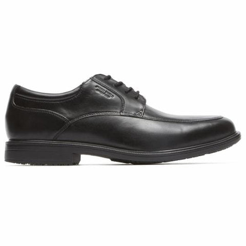 Rockport Shoe BLACK LEATHER / 5 / M Rockport Mens Essentials Details II Apron Toe Dress Shoes - Black Leather