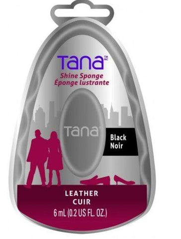 Tana Shoe Care Tana Leather Shine Sponge Black 6ml (0.2 US FL. OZ.)