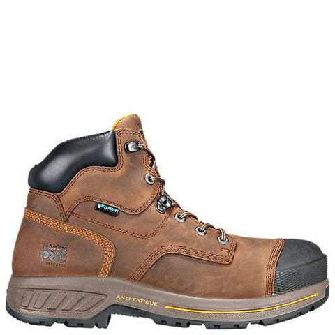 "Timberland Boots Brown Full Grain Leather / 8 US / Wide Timberland Pro Mens Endurance HD 6"" W/P Composite Toe Safety Boots - Brown"