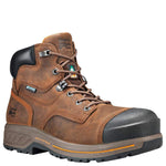 "Timberland Boots Timberland Pro Mens Endurance HD 6"" W/P Composite Toe Safety Boots - Brown"