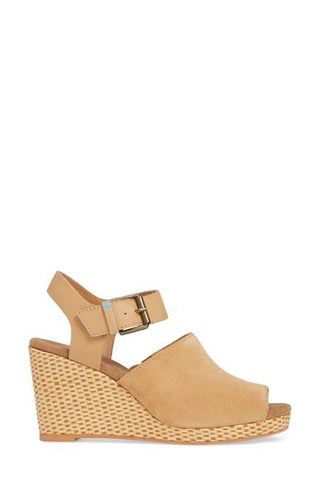 TOMS Sandals Honey Suede/Leather / 5 / M Toms Womens Tropez Wedge Sandals - Honey Suede