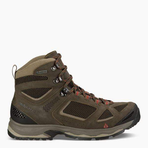 Vasque Boots BROWN OLIVE/BUNGEE CORD / 5 / W Vasque Mens Breeze III GTX Hiking Boots - Brown Olive/Bungee Cord