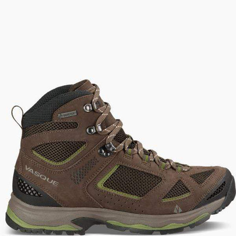 Vasque Boots Brown Olive/Pesto / 5 / W Vasque Mens Breeze III GTX Hiking Boots - Brown Olive/Pesto