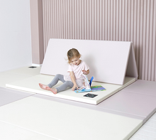 "Load image into Gallery viewer, ""Premium"" Inward-Folding Play Mat - Cream Lavender"