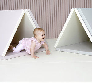 """Premium"" Inward-Folding Play Mat - Cream Lavender"