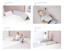 "Load image into Gallery viewer, ""Premium"" Inward-Folding Play Mat - Cream"