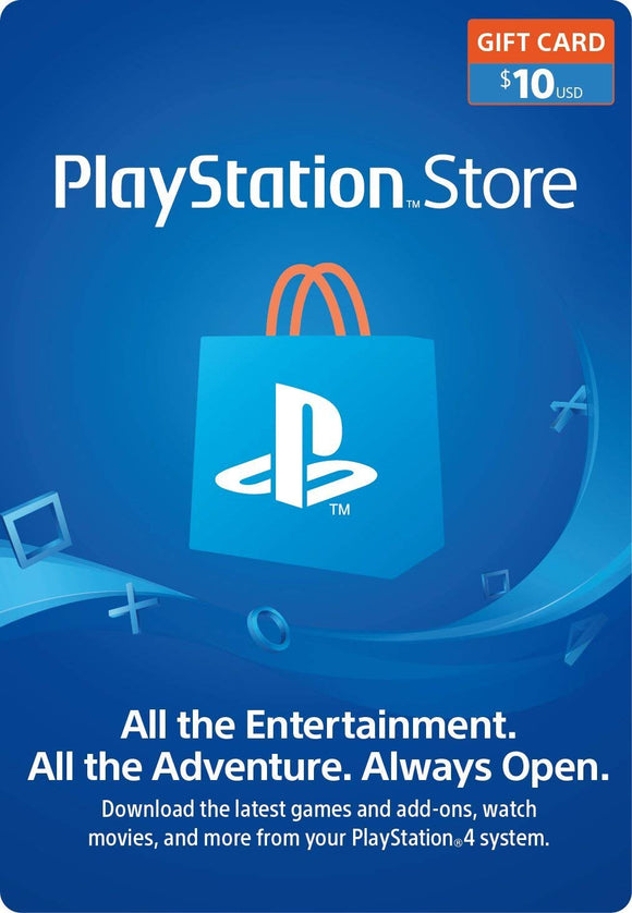 PlayStation Network $10 USD Code - 10 Dollar 10$ PSN US Store Card - PS4 PS3 USA - INSTANT DELIVERY - ORIGINAL NEW KEY CODE!