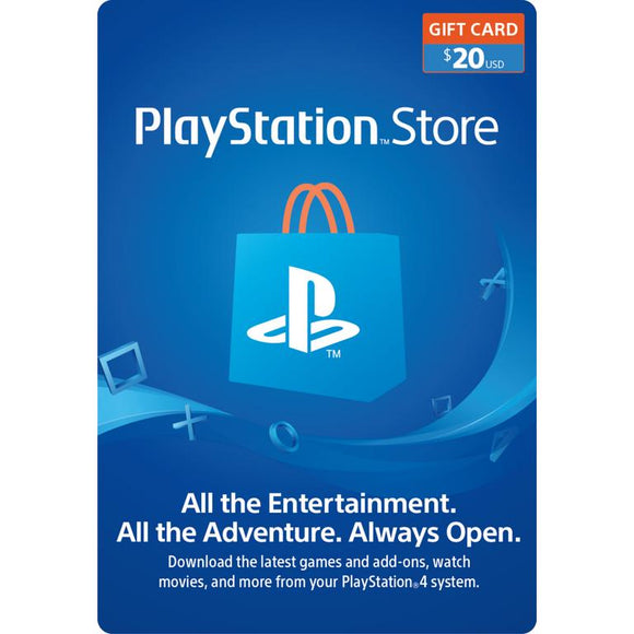 Playstation Network $20 USD Card - PSN 20 Dollar - PS4 PS3 - US Store Key Code - INSTANT DELIVERY - ORIGINAL NEW KEY CODE!