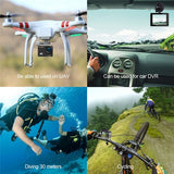 4K Sport Action Camera Wifi Waterproof 30M 1080p Full HD 16Mp Underwater Action Cam Bicycle Helmet Camera (Color: Black, Grey, Blue)