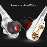 Dual-Dynamic Quad-core 3.5mm Noise Isolation Sport In-ear Earphone with Microphone and Subwoofer Earphone for Universal Mobile Phone - ORIGINAL AND NEW - FREE SHIPPING (WORLDWIDE) - Reloook
