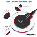 Qi Wireless Charger For Samsung Galaxy Note 9 S8 S9 S10 Plus Fashion Charging Dock Cradle Charger For iphone X 8 Plus and Latest iPhone Model Nexus Nokia Lumia Series and More Smartphones