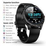 2019 New Men Smart Watch IP68 Waterproof Heart Rate Blood Pressure Blood Oxygen Monitor Fitness Tracker Wristband Bluetooth Wristwatch Smart Band Sport Smartwatch for IOS Android