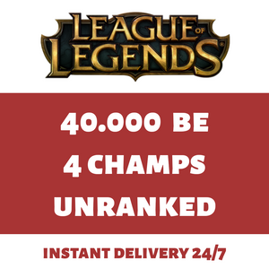 League of Legends Account LoL Smurf Acc 40000 BE IP 40k EUW Level 30+ Unranked - INSTANT DELIVERY