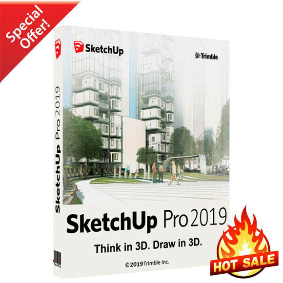 SketchUp Pro 2019 | Full Version Download | Lifetime License - INSTANT DELIVERY - ORIGINAL NEW KEY CODE!
