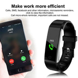 Smart Bracelet Sports Activity Fitness Tracker With Heart Rate Blood Pressure Monitor Bluetooth Smart Wristband Watch for iOS Android Phone - ORIGINAL AND NEW - FREE SHIPPING (WORLDWIDE) - Reloook