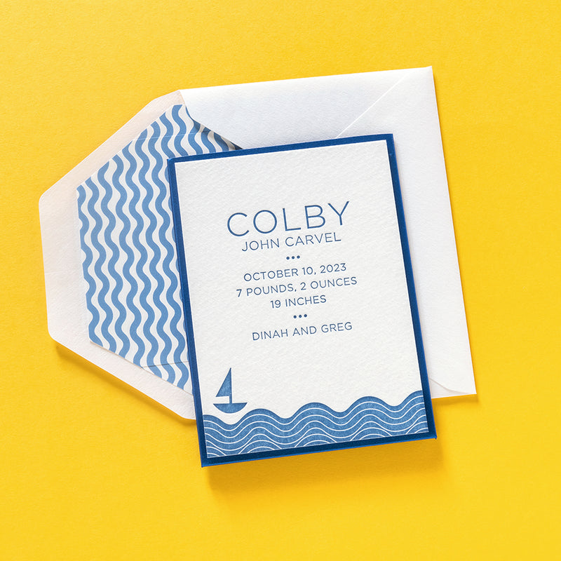 Colby Custom Birth Announcement